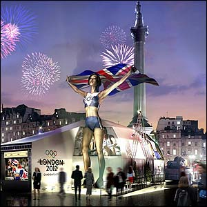 An artist's impression of the statue which will go up in Trafalgar Square