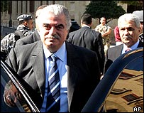 Rafik Hariri seen shortly before the blast