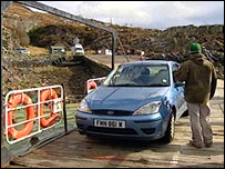 Car on the ferry