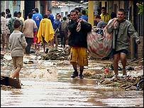 Inundaciones en Bucamaranga, departamento de Santander