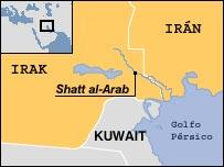 Mapa de Ir�n-Irak
