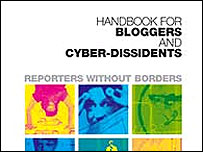 Screengrab of the Reporters Without Borders blogger guidebook