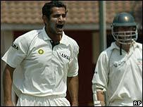 Irfan Pathan takes a wicket