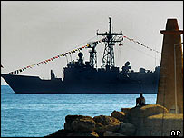 Turkish warship in Kyrenia