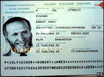 Pasaporte island�s de Bobby Fischer