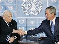 President Bush and Ariel Sharon