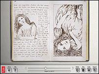 Manuscrito digital de Alicia en el País de las Maravillas.