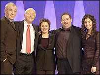 Sir Ian McKellen, Michael Parkinson , Rhona Cameron, Johnny Vegas and Katie Melua