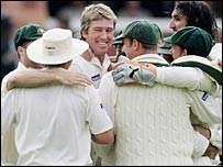 McGrath took his 500th Test wicket in a classic display