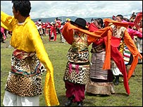 Chinese people wearing animal skins (Photo courtesy: Wildlife Protection Society of India)
