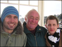 Keri Collins, Frank Kelly and Paul West