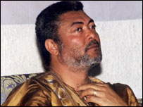 Former president of Ghana Jerry Rawlings