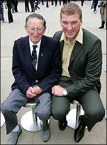 1948 Olympic gold medallist Bertie Bushell and 2000 rowing gold medallist Mathew Pinsent
