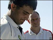 Sourav Ganguly and Greg Chappell