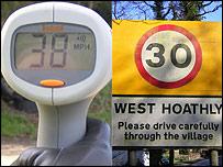 Speed gun reading / speed limit
