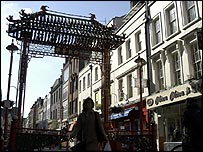 Scene in London's Chinatown