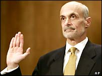 Michael Chertoff is sworn in for his confirmation hearing