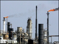 An oil refinery in Galveston Bay, Texas City