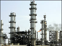 An oil refinery in Texas