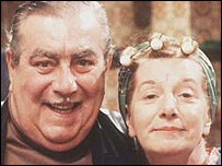 Stan and Hilda Ogden (Bernard Youens and Jean Alexander)