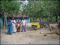 Villagers in Naluvedapathy, Tamil Nadu