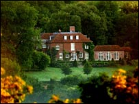 The Ritchies' pile, Ashcombe House in Wiltshire