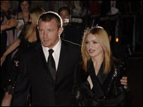 Guy and Madonna attending the premiere of Revolver in London's Leicester Square