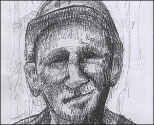 A miner, sketched by Dewi Bowen