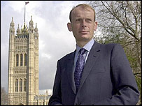 Andrew Marr outside Parliament