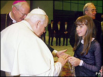 Charlotte Church meeting the Pope