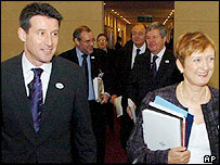 Lord Coe and Tessa Jowell lead the IOC inspectors on the first day of the inspection