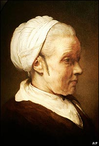 Lighting Study of a Woman in a White Cap
