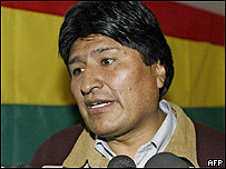 Evo Morales, indigenous leader and presidential candidate