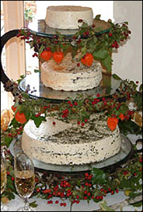 Ridgewell Dairy wedding cake