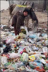 Scouring rubbish