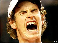 Britain's Andy Murray struggles in the Davis Cup