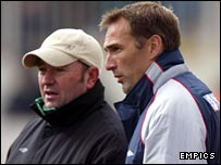 Steve Thompson (right) will be caretaker boss at Yeovil