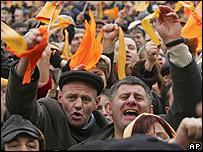 Revolución Naranja en Ucrania.