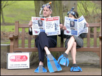 Couple reading paper/Pic: Callum Bennetts for everyone coalition