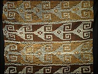 Pre-Columbian textile recovered by customs (Photo courtesy ICE)