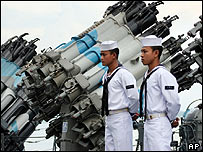 Indonesian naval sailors (archive image)