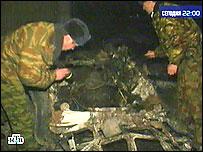 Эксперты на месте взрыва (съемки НТВ)