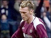 Lee Miller was on target for Hearts