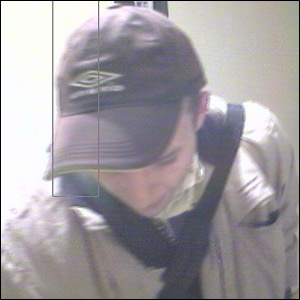 Ben Park, serial burglar, caught on camera. Picture courtesy of Duncan Grisby