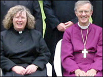 Sarah Jones and the Bishop of Hereford