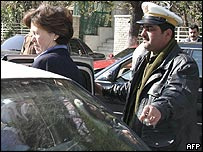 US ambassador to Syria Margaret Scobey after talks at the foreign ministry in Damascus on 16 February 2005
