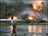 Fire in Pasadena, Texas