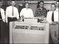 Ray Dolby and colleagues at Ampex in 1956 before he set up Dolby