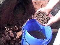 excavation of Roman artefacts