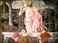 The Resurrection, c.1463 (fresco) by Piero della Francesca